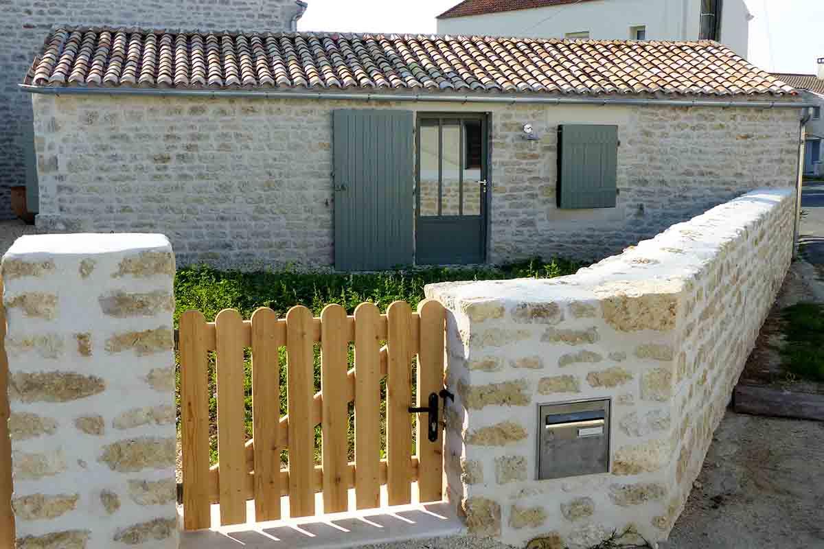maçonnerie de moellons en Charente Maritime